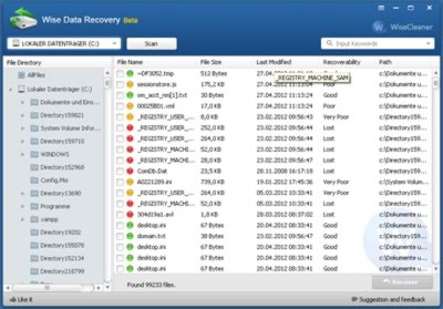 Wise Data Recovery 3.02 Beta